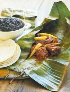 Mayan Chicken Pibil in Banana Leaves