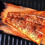 Cedar Planked Salmon. Plank cooking doesn't have to end with fish. Try veggies or other meats. Photo by Rick Browne