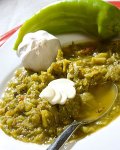 Green Chile Sauce. Photo by Wes Naman