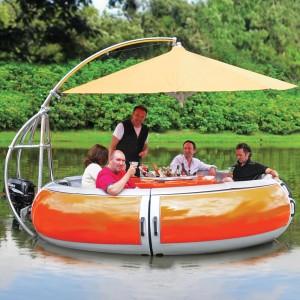 BBQ dining boat