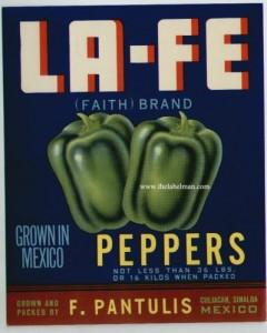 La-Fe Pepper Label