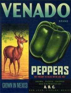 Venado Peppers Label