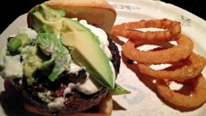 Burn avocado burger