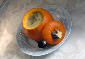 smoked pumpkin soup