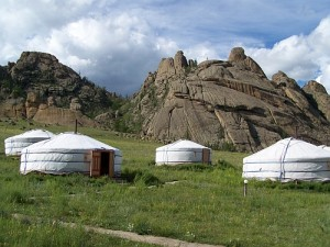 Gers (yurts) are still a common form of housing in Mongolia.