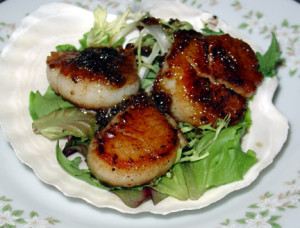 plated scallops