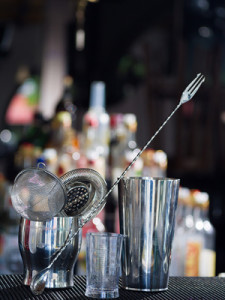 Bartender tools at the club