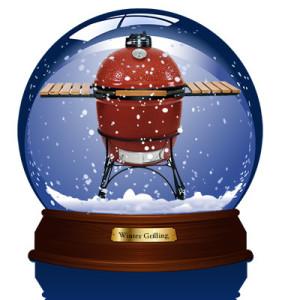 grill in snowglobe