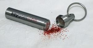 chile powder key chain