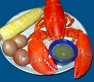Lobster and Corn with Drawn Butter