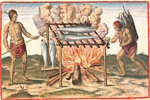 virginia-indians-smoking-fish-1590-theodor-debry-copy