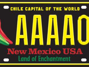 Nm chile license plate