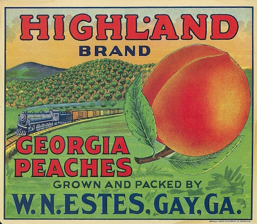 peach crate label