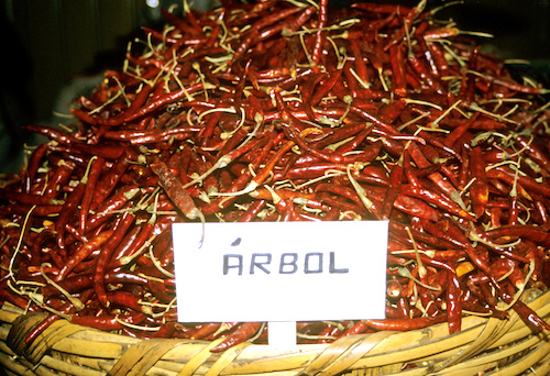 ...Will resemble these de Arbols in a Oaxacan market when dried.