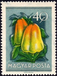 Hungarian Paprika Stamp, 1954.