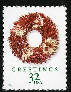 U.S.P.S. Christmas Stamp 1998.