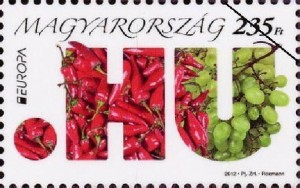 Hungarian Paprika Stamp,  Best Europa Stamp, 2012.