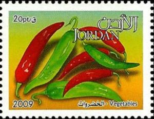 Jordan Chile Stamp, 2009.