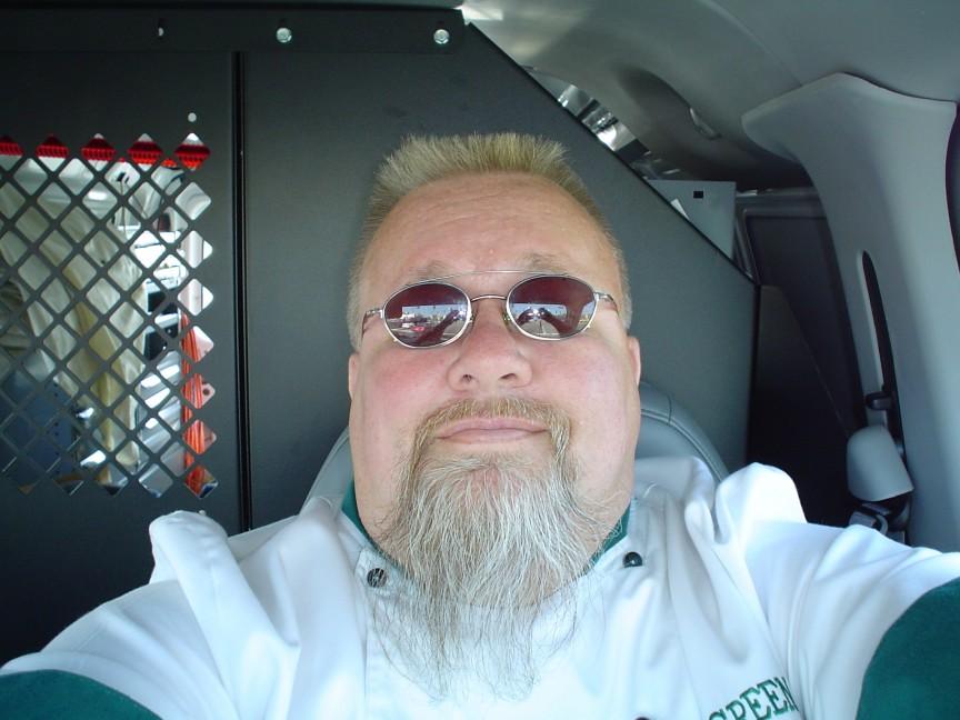 Ray lampe self portrait in van