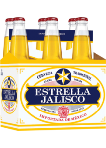 """Mexico- American-Style Lager- 4.5% ABV. Estrella Jalisco is the brand of """"Mexicanidad"""" because it re-awakens Mexican traditions and invites everyone to participate. This beer pours with a pale-crystal golden yellow color and has a refreshingly light flavor."""