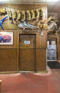 Men's Room with Stuffed Fish, Angelo's Bar-B-Que