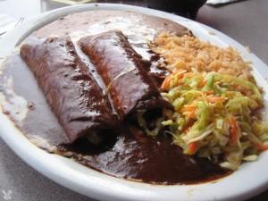 Mole Poblano Enchiladas