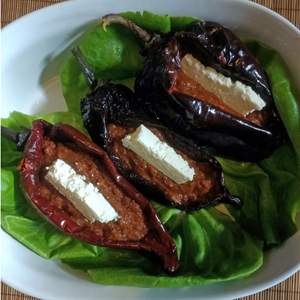 bean and cheese ancho rellenos