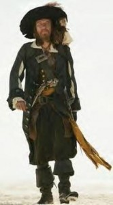 captain barbossa pirates of caribbean