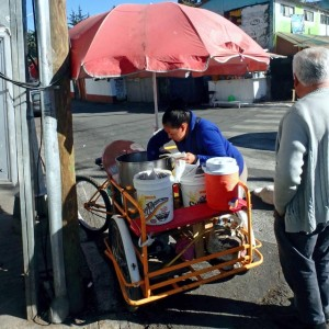 typical tamales street vendor
