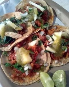 double tortilla tacos al pastor