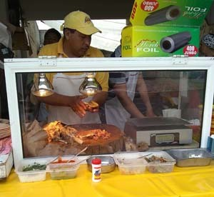 Typical barbacoa vendor