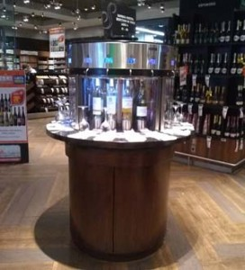 glass of wine dispenser