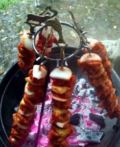 Pork loin onions and pineapple al pastor