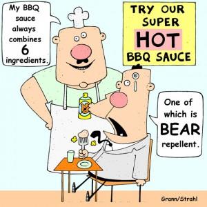 spicy barbecue sauce cartoon
