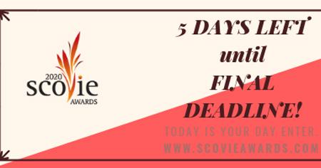 2020 scovie awards deadline looms