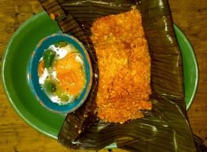 Zacahuil with jalapeños en escabeche