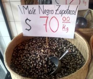Black Zapotec corn at Molino El Pujol