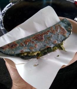 Blue corn quesadilla