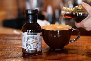 hot maple latte