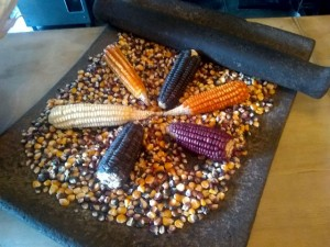 Metate and native corn