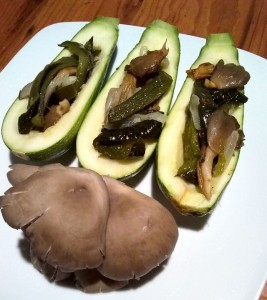 Squash stuffed with oysters