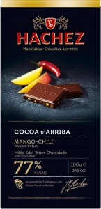 hachez mango chile chocolate bar