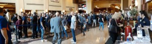 By Saturday afternoon, the line not only snaked along the stanchions, it trailed all the way through the casino floor. Yeah, it was kinda busy...
