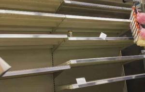 empty shelves pandemic