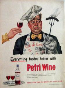 petri wine ad bbq 1949