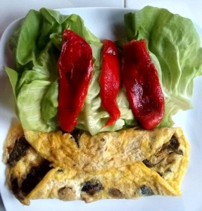 milpas grilled vegetable omelet