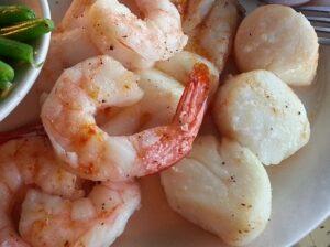 sechuan scallops and shrimp