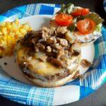mesquite mushroom burger