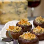 stilton stuffed mushrooms