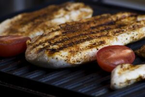 grilled garlic fish